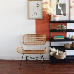 Mod Rattan and Iron Side Chair | Holistic Habitat