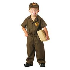 Your little one probably isn't caught up in the world of logistics and international shipping quite just yet, but he can still look like he is in this great costume. The UPS Guy Toddler Costume includes a licensed, official, brown UPS shirt, pants, and hat. Instead of going house to house dropping off packages, he'll be going house to house receiving them in the form of Halloween candy! Order this costume today!<br><br>Our online <a…