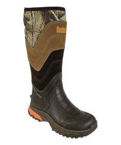 Look at this #zulilyfind! Black & Brown Camo Bucktale Waterproof Duck Boot - Adult #zulilyfinds