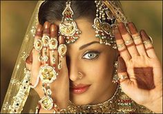 Indian jewelry on a princess...