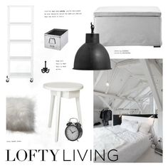 """""""Lofty Living"""" by little-bumblebee ❤ liked on Polyvore featuring interior, interiors, interior design, home, home decor, interior decorating, CB2, Zink and bedroom"""
