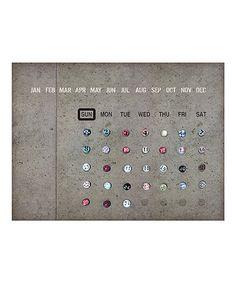 Look at this #zulilyfind! Concrete Tools Tin Calendar by Time Concept #zulilyfinds