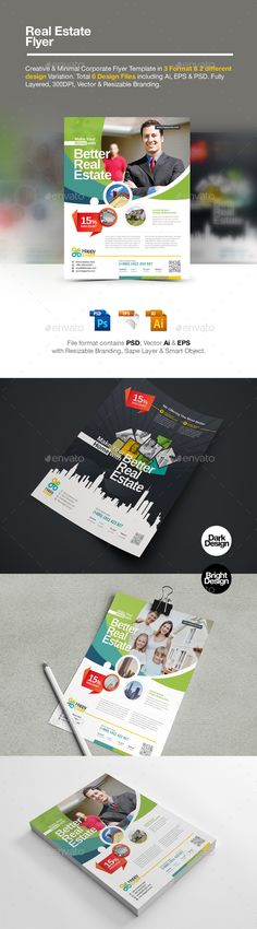 Real Estate Flyer Template #design Download: http://graphicriver.net/item/real-estate-flyer/12850362?ref=ksioks