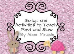 Need fun visuals and lessons for the musical opposites fast and slow? This product includes: *Songs and chants to teach fast and slow: Engine Engi. Preschool Music Activities, Kindergarten Music, Movement Activities, Kindergarten Lessons, Teaching Music, Music Terms, Library Themes, Fast And Slow, Music Classroom
