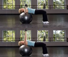 Stability Ball Bench Press