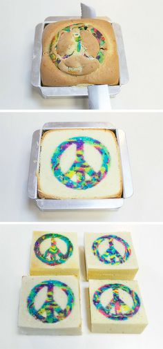 peace cake, pretty sure this is the cake is want for my birthday this year! so cool!