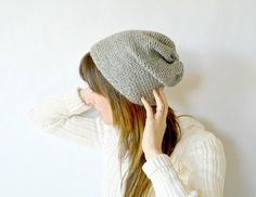 DIY: slouch crochet beanie