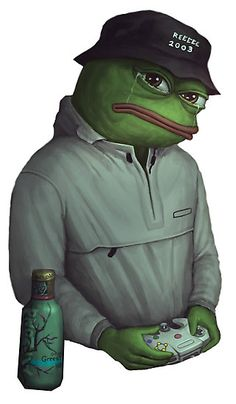 SAD FROG PEPE in Yung Lean expression