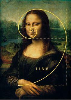 """On peut aussi retrouver le nombre d'or dans la morphologie du visage humain. Comme dans le tableau de la """"Joconde"""" de Léonard De Vinci. http://fabrice.cattaini.free.fr/wordpress/?p=752 L.B."""