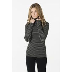 Shop shirts & blouses at Ardene. Get off-the-shoulder tops, plaid shirts, or prairie blouses in the most popular trends for cute looks that suit all seasons. Turtleneck Shirt, Striped Turtleneck, Black Stripes, Turtle Neck, Charcoal Black, Sweaters, Shirts, Clothes, Kleding