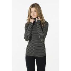Charcoal & black striped turtleneck shirt