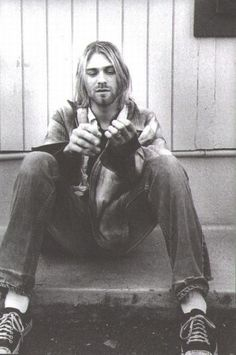 """Kurt Cobain """"Wanting to be someone else is a waste of the person you are."""" ❤"""
