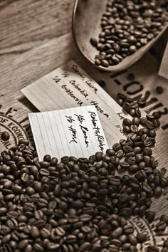Coffee Beans - Context, Sepia