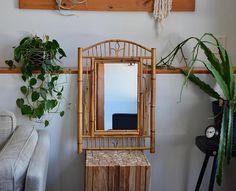 Large Vintage Bamboo Mirror Vintage RARE Bamboo Wall Mirror