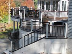 Trex decking offers the highest quality materials and style for custom deck designs. Amazing Decks can help make your deck safe with Trex deck railings. Patio Deck Designs, Deck Builders, Barbie Dream House, House With Porch, Decks And Porches, Decoration, Outdoor Spaces, Trex Decking, Decking Ideas