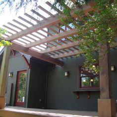 Sacramento Pergola Design, Pictures, Remodel, Decor and Ideas Craftsman Exterior, Craftsman Kitchen, Craftsman Style, Pergola Patio, Backyard Landscaping, Bungalows, Exterior Gray Paint, Mid Century Exterior, Cape Cod Style House