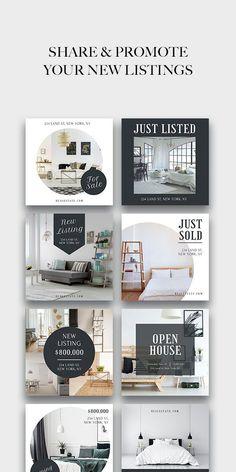 Instagram Grid, Instagram Design, Instagram Posts, Ad Design, Layout Design, Inmobiliaria Ideas, Marketing Ideas, Business Marketing, Instagram Post Template