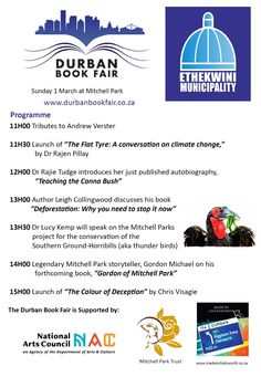 The Durban BookFair is in full swing today. Bookish conversations on a lovely Sunday 🗣📚 🌞 Climate Change, Sunday, Product Launch, Events, Teaching, Domingo, Education, Onderwijs, Learning