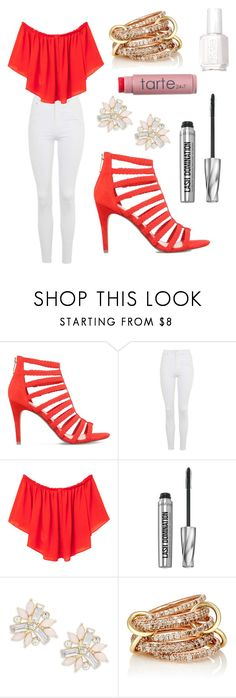 """being happy never goes out of style"" by shailaaa ❤ liked on Polyvore featuring KG Kurt Geiger, Topshop, MANGO, Bare Escentuals, Cara, tarte, SPINELLI KILCOLLIN and Essie"
