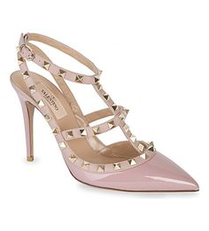 Rockstud 100 patent-leather heeled courts
