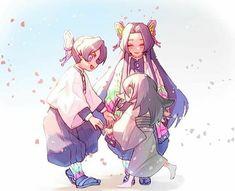 three girls are playin Otaku Anime, Manga Anime, Fanarts Anime, Anime Demon, All Anime, Anime Characters, Anime Art, Demon Slayer, Slayer Anime