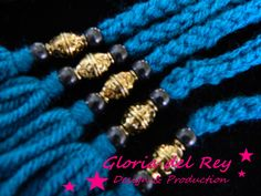 Detail of the tassels (all our models have these beautiful beads)