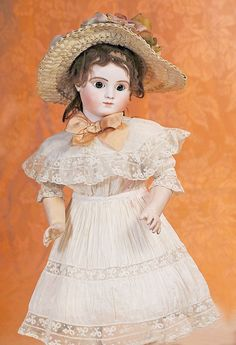 "41: FRENCH BISQUE ""SERIES C"" BEBE WITH BOURGOIN STEINER : Lot 41"