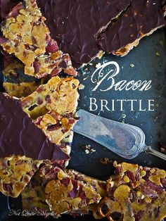 Bacon Candy If you love crunchy, sweet and salty then you are going to go crazy on this brittle. With the crunch of pretzels and pecans and toffee and sweetness from maple and salt from bacon, it is incredibly moreish and hard to stop at one piece.