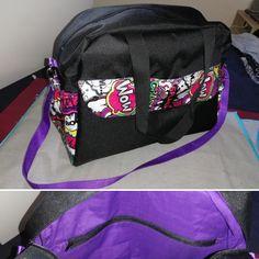 Sac à langer Boogie cousu par Ninoushka Lala - Tissu(s) utilisé(s) : Toile à sac, jersey enduit à l'odicoat et coton - Patron Sacôtin : Boogie