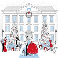 """Megan Hess auf Instagram: """"Would you like to own a large scale print of this special Christmas illustration that I created for Wedgwood? Visit the FACEBOOK page of @wedgwoodau and you can enter their competition to win this signed print!"""""""