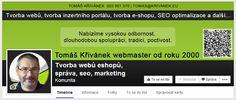 Profil timeline pro Tomáše Křivánka (krivanek.eu)