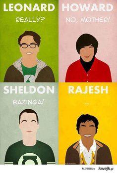 big bang theory characters!  Lol:)