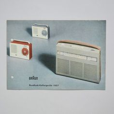 Braun Rundfunk-Koffergerate 1957