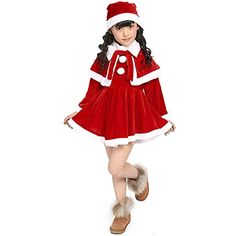 31c9d006e4397 christmas outfits toddler elf - Dressin Toddler Kids Baby Girls Christmas  Costume Party Dresses Shawl Hat Outfit Set Costume (Red, * Check this  awesome ...