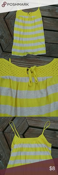 Old navy spaghetti strap tank Yellow and tan. Great condition. Old Navy Tops Tank Tops
