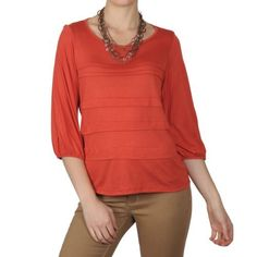 Hailey Jeans Co Womens Three-quarter Sleeve Scoop Neck Top Hailey Jeans Co.. $9.99. Save 67%!