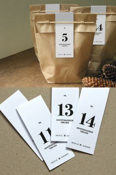 Great Inspo for Christmas Advent Calendar DIY Ideas. Looks like Coffee Bags #ad