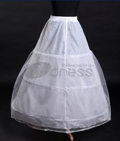 White elastic waist wedding petticoat