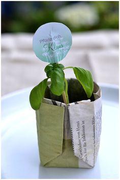 Pflanzcontainer als Platzkarte für euren Hochzeitstisch |Verrueckt nach Hochzeit