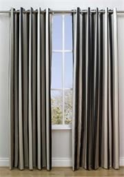 Terbox Lexington Onyx Fully Lined Ready Made Curtains Multicoloured