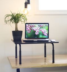 "VIVO Standing Height Adjustable Desktop Stand / Stand-up Work Space Desk Platform 24"""