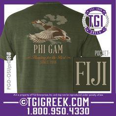 TGI Greek - Phi Gamma Delta - Fraternity PR - Comfort Colors - Greek T-shirts - FIJI