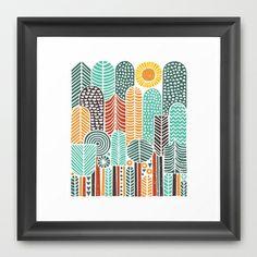 trees Framed Art Print by dennisthebadger - $33.00
