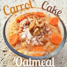Ripped Recipes - Carrot Cake Oatmeal - A healthy meal to satisfy those decadent cake desires