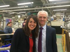 Hannah from Money.co.uk with Pretty Polly's Managing Director, David Donnelly.