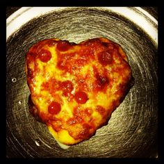 Homemade Heart Pizza!!