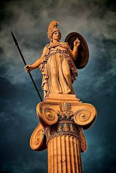 The statue of Athena.' by Greece. The statue of Athena. Greek History, Ancient History, Ancient Art, Art History, Architecture Antique, Ancient Greek Architecture, Greece Architecture, Modern Architecture, Statues