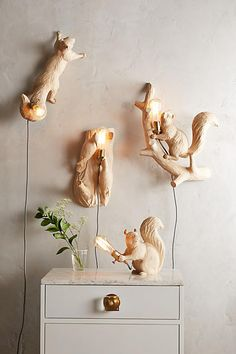 Seated Squirrel Handcarved Woodlore Lamp - anthropologie.com -- Just my kind of quirky! #CollectThemAll