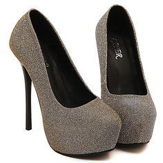 Chaussures Femme Similicuir Talon aiguille Talons/Bout Arrondi Escarpins…