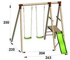 Kids Backyard Playground, Backyard For Kids, Kids Outdoor Play, Kids Play Area, Diy Garden Furniture, Kids Furniture, Childrens Garden Toys, Swing Set Plans, Diy Swing
